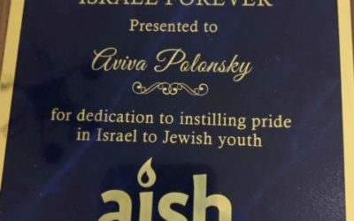 Thank you Hasbara Fellowship for honouring Aviva Polonsky with the Israel Forever Award!